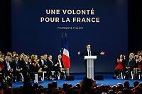 JEAN-PIERRE RAFFARIN, FRANCOIS BAROIN, GERARD LARCHER, VALERIE PECRESSE, BRUNO RETAILLEAU, JEAN-CHRISTOPHE LAGARDE, JEAN-FRANCOIS COPE, FRANCOIS FILLON -| MEETING DE FRANCOIS FILLON A PARIS, FRANCE, LE 09/04/2017.