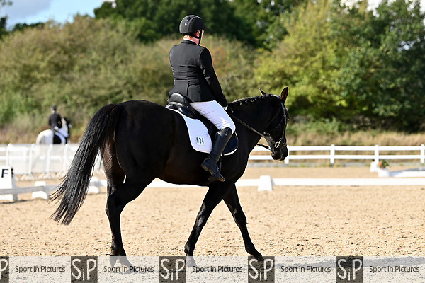 Stapleford Abbotts. United Kingdom. 05 October 2019. Class 8. Unaffiliated dressage championships. Brook Farm training centre. Essex. UK.~ 05/10/2019.  MANDATORY Credit Garry Bowden/SIPPA - NO UNAUTHORISED USE - 07837 394578