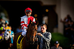 JULY 17, 2021: Royal Ship with Mike Smith before the San Diego Handicap at Del Mar Fairgrounds in Del Mar, California on July 17, 2021. Evers/Eclipse Sportswire/CSM
