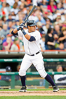 Avisail Garcia (34) of the Detroit Tigers at bat against the Tampa Bay Rays at Comerica Park on June 4, 2013 in Detroit, Michigan.  The Tigers defeated the Rays 10-1.  Brian Westerholt/Four Seam Images