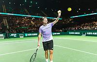 Rotterdam, The Netherlands, 11 Februari 2019, ABNAMRO World Tennis Tournament, Ahoy, first round singles: Benoit Paire (FRA) - Stan Wawrinka (SUI),<br /> Photo: www.tennisimages.com/Henk Koster