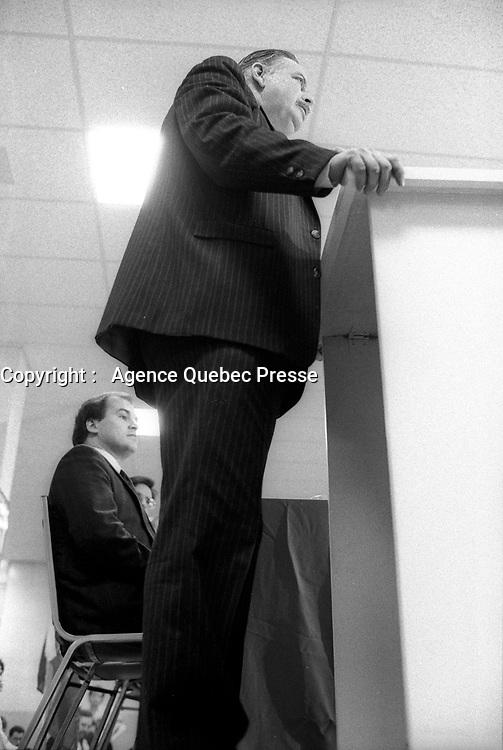 Montreal (QC) CANADA  file photo - Nov 17 1988<br /> <br />   : Jacques Parizeau