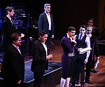 """Tony Yazbeck and Corey Cott with cast performing during the MCP Production of """"The Scarlet Pimpernel"""" Concert at the David Geffen Hall on February 18, 2019 in New York City."""