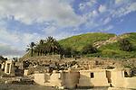 Beth Shean, ruins of the Roman-Byzantine city Scythopolis, Tel Beth Shean is in the background