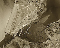 historical aerial photograph Oakland International airport 1946