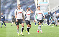 Preston North End's players look dejected as the game ends<br /> <br /> Photographer Mick Walker/CameraSport<br /> <br /> The EFL Sky Bet Championship - Preston North End v Cardiff  City - Saturday 27th June 2020 - Deepdale Stadium - Preston<br /> <br /> World Copyright © 2020 CameraSport. All rights reserved. 43 Linden Ave. Countesthorpe. Leicester. England. LE8 5PG - Tel: +44 (0) 116 277 4147 - admin@camerasport.com - www.camerasport.com