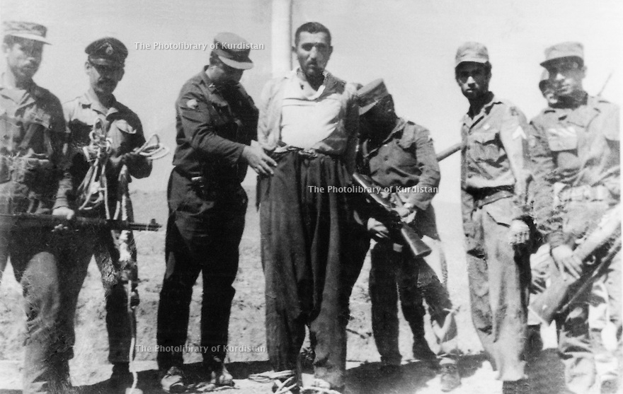 Iran 1967 .Namek, highwayman, with the firing squad in Saqez .<br />