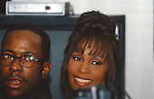 BOBBY BROWN & WHITNEY HOUSTON_1994_CANDID<br /> 21ST AMERICAN MUSIC AWARDS-L.A., CA. FEB. 7, 1994<br /> Photo Credit: JEFFREY MAYER:AtlasIcons.com