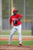 Philadelphia Phillies Franklyn Kilome (65) during a minor league Spring Training game against the Toronto Blue Jays on March 26, 2016 at Englebert Complex in Dunedin, Florida.  (Mike Janes/Four Seam Images)