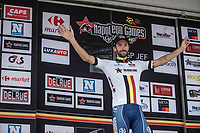 Kenny Dehaes (BEL/Wanty Groupe Gobert) remains leader in the overall Napoleon Games ranking. <br /> <br /> 51th GP Jef 'Poeske' Scherens 2017 <br /> Leuven - Leuven (13local laps/153.7km)