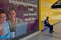 Security Guard of a Bank in Colurful Battambang Cambodia