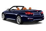 Car pictures of rear three quarter view of a 2018 BMW M4 Base 2 Door Convertible angular rear