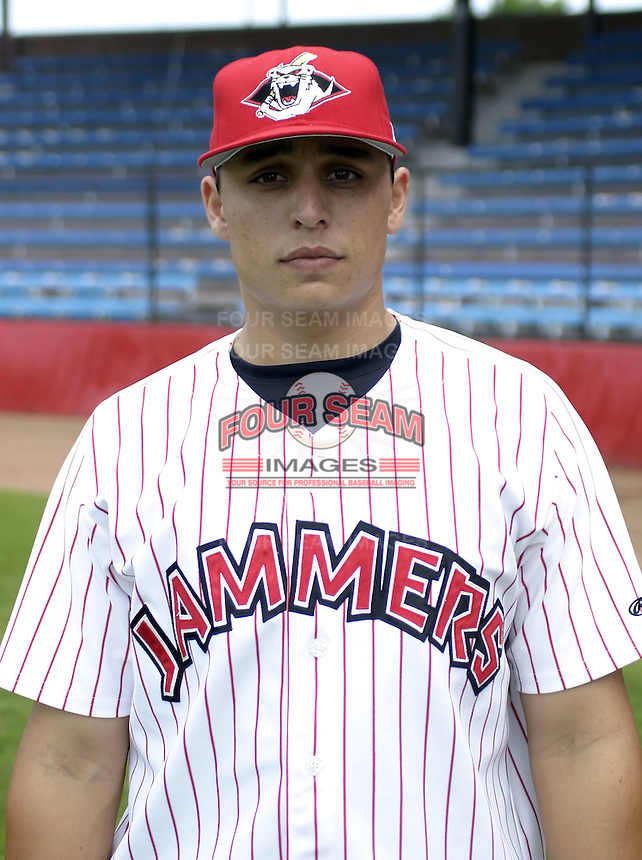 July 3, 2004:  Pitcher Jason Vargas of the Jamestown Jammers, Single-A NY-Penn League affiliate of the Florida Marlins, during a game at Russell Diethrick Park in Jamestown, NY.  Photo by:  Mike Janes/Four Seam Images