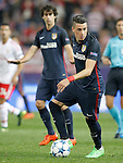 Atletico de Madrid's Angel Correa (r) and Tiago Mendes during Champions League 2015/2016 match. September 30,2015. (ALTERPHOTOS/Acero)