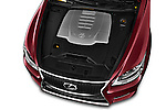 Car Stock 2017 Lexus LS 460-Sport 4 Door Sedan Engine  high angle detail view