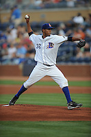 Richard De Los Santos #32 Pitcher Durham Bulls (Rays) May 7, 2010 Photo By Tony Farlow/Four Seam Images