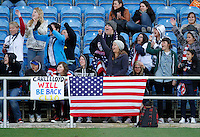 USA's fans during their Algarve Women's Cup soccer match at Algarve stadium in Faro, March 13, 2013.  .