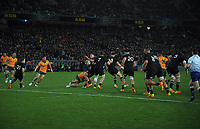 NZ's David Havili in action during the Bledisloe Cup rugby match between the New Zealand All Blacks and Australia Wallabies at Eden Park in Auckland, New Zealand on Saturday, 7 August 2021. Photo: Dave Lintott / lintottphoto.co.nz