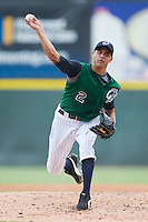 Starting pitcher Carlos Torres #2 of the Charlotte Knights in action against the Toledo Mudhens at Knights Stadium August 8, 2010, in Fort Mill, South Carolina.  Photo by Brian Westerholt / Four Seam Images