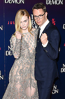 "Elle Fanning and Nicolas Winding Refn<br /> arrives for the premiere of ""The Neon Demon"" at the Picturehouse Central, London.<br /> <br /> <br /> ©Ash Knotek  D3125  30/05/2016"