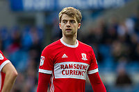 Patrick Bamford of Middlesbrough during the Sky Bet Championship match between Cardiff City and Middlesbrough at the Cardiff City Stadium, Cardiff, Wales on 17 February 2018. Photo by Mark Hawkins / PRiME Media Images.