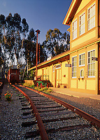 The exterior of the South Coast Railroad Museum at Goleta Depot. Goleta, California.