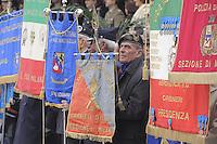 - Italian Army, banners of Veterans Associations during a military ceremony....- Esercito Italiano, labari delle associazioni d'Arma durante una cerimonia militare ....