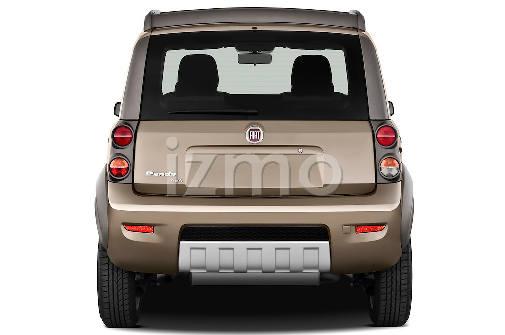 Straight rear view of a 2009 Fiat Panda 5 Door 4x4