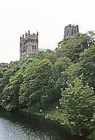 Durham: Durham Cathedral--from the Northwest. Photo '90.