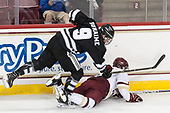 Brandon Duhaime (PC - 9), Colin White (BC - 18) - The Boston College Eagles defeated the visiting Providence College Friars 3-1 on Friday, October 28, 2016, at Kelley Rink in Conte Forum in Chestnut Hill, Massachusetts.The Boston College Eagles defeated the visiting Providence College Friars 3-1 on Friday, October 28, 2016, at Kelley Rink in Conte Forum in Chestnut Hill, Massachusetts.