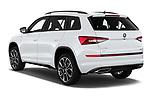 Car pictures of rear three quarter view of 2019 Skoda Kodiaq RS 5 Door SUV Angular Rear