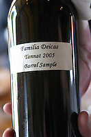 Bottle of Familia Deicas Tannat 2005 Barrel Sample. Bodega Juanico Familia Deicas Winery, Juanico, Canelones, Uruguay, South America