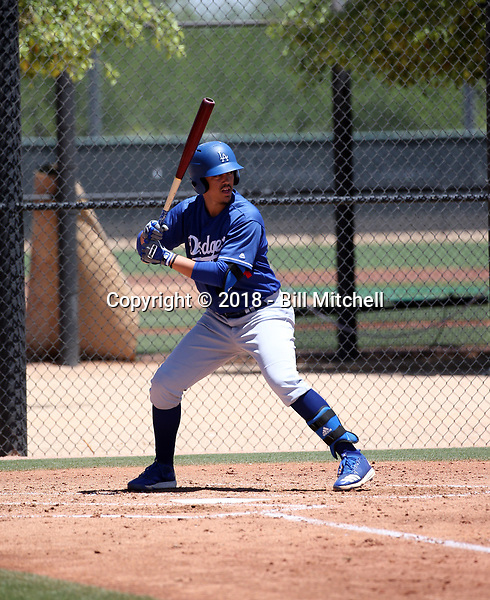 Miguel Vargas - Los Angeles Dodgers 2018 extended spring training (Bill Mitchell)