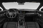 Stock photo of straight dashboard view of 2021 Audi e-tron-GT RS 4 Door Sedan Dashboard