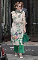 July 2 2017, Paris, France - Singer Celine Dion leaves the Royal Monceau Hotel on Avenue Hoche. # CELINE DION SORT DU 'ROYAL MONCEAU' A PARIS