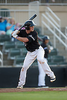 Cody Daily (31) of the Kannapolis Intimidators at bat against the Lakewood BlueClaws at Kannapolis Intimidators Stadium on May 10, 2016 in Kannapolis, North Carolina.  The BlueClaws defeated the Intimidators 5-3.  (Brian Westerholt/Four Seam Images)