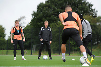 Graham Potter Manager of Swansea City watches on during the Swansea City Training Session at The Fairwood Training Ground, Wales, UK. Tuesday 11th September 2018