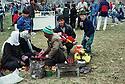 Syria 2000 <br /> Celebration of Nowruz in Damascus , picnic of a Kurdish family   <br /> <br /> Syrie 2000 <br /> Fete de Nowruz dans un jardin de Damas, famille pique-niquant