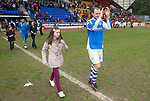 St Johnstone v Motherwell.....19.05.13      SPL.Captain Dave Mackay leads the applause at full time.Picture by Graeme Hart..Copyright Perthshire Picture Agency.Tel: 01738 623350  Mobile: 07990 594431