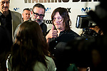 """Jeffrey Dean Morgan and Norman Reedus attends to an event with fans of """"The Walking Dead"""" at Cines Capitol in Madrid. March 09, 2017. (ALTERPHOTOS/Borja B.Hojas)"""