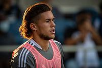 SAN JOSE, CA - JULY 24: Cade Cowell #44 of the San Jose Earthquakes warms up] during a game between San Jose Earthquakes and Houston Dynamo at PayPal Park on July 24, 2021 in San Jose, California.