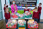 Knockaderry NS Farranfore who did a St Vincent de Paul hamper appeal at the school.<br /> Front l to r: Aoibhínn Daly, Diarmuid Casey and Liam Smyth. Back l to r: Padraig O'Sullivan, Sinead Galvin and Aine Daly (Principal).