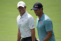 4th June 2021; Dublin, Ohio, USA;  Rory McIlroy (NIR) and and Adam Scott (AUS) walk together as they approach the 18th green during the second round of the Memorial Tournament at Muirfield Village Golf Club in Dublin, Ohio on June 04, 2021.