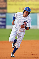 Ryan Flaherty of the Daytona Cubs during the game at Jackie Robinson Ballpark in Daytona Beach, Florida on August 29, 2010. Photo By Scott Jontes/Four Seam Images
