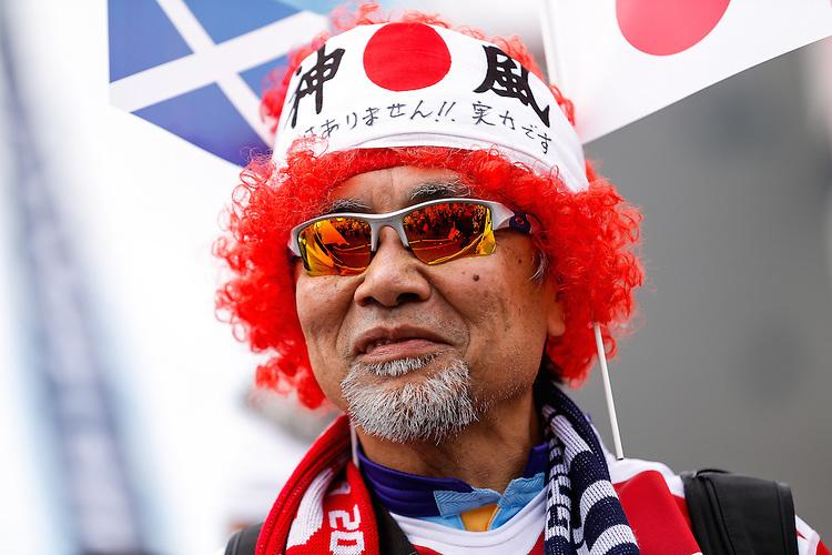 Japanese fans - Mandatory byline: Rogan Thomson - 23/09/2015 - RUGBY UNION - Kingsholm Stadium - Gloucester, England - Scotland v Japan - Rugby World Cup 2015 Pool B.