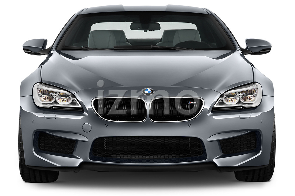 Car photography straight front view of a 2017 BMW M6 - 2 Door Coupe Front View