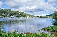 France, Puy de Dome, Volcans d'Auvergne Regional Natural Park, Chambon sur Lac, Lake Chambon // France, Puy-de-Dôme (63), Parc naturel régional des volcans d'Auvergne, Chambon-sur-Lac, lac de Chambon