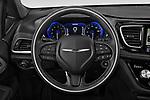 Car pictures of steering wheel view of a 2020 Chrysler Pacifica Limited 5 Door Minivan Steering Wheel