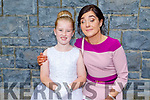 Amy Fehan standing with her mom Mary who received her First Holy Communion in Kilmoyley on Saturday.
