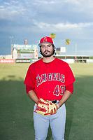AZL Angels Austin Krzeminski (40) poses for a photo before a game against the AZL Diamondbacks on August 20, 2017 at Diablo Stadium in Tempe, Arizona. AZL Angels defeated the AZL Diamondbacks 19-1. (Zachary Lucy/Four Seam Images)